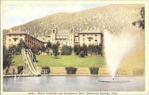 Hotel Colorado Swimming Pool Glenwood Springs CO Postcard Standard View Card