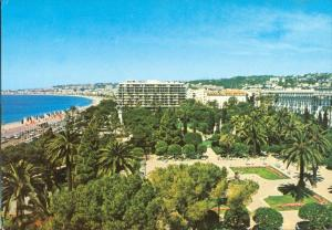 Les Jardins Albert 1er, L'Hotel Meridien, 1977 signed unused