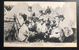Mint France Postcard RPPC WWI English Troops A Happy Card Party