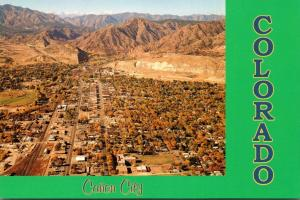 Colorado Canon City Aerial View Of Business District Looking West