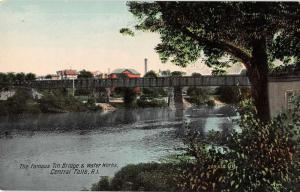 Central Falls Rhode Island Tin Bridge and Water Works antique pc Y10882