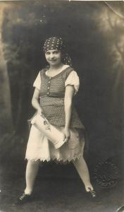 Hungary Photo Postcard Takacs Debrecen Cute Girl Folk Costume