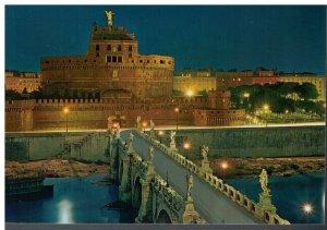 Postcard - Roma - Holy Angel Castle Engelsburg - Rome Italy