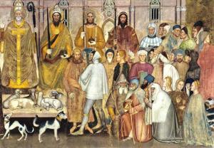 Postcard Art Firenze S.M Novella, Allegory of the Church, Nova Lux #F