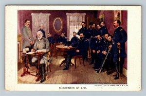 Jamestown 1907 Expo, Lee's Surrender to General Grant, Vintage Virginia Postcard