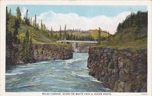 YUKON, Canada, 1900-1910´s; Miles Canyon, Scene On White Pass & Yukon Route