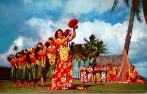 Hawaii Hula Dancers At Waikiki