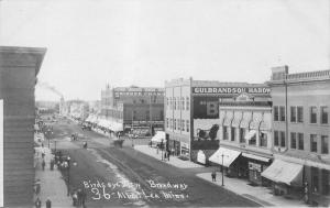 Albert Lea Minnesota~Broadway~Gulbrandson Hardware~Skinner~Autos~c1911 RPPC