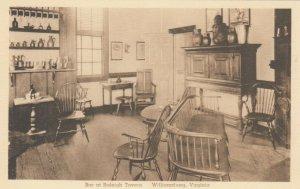 WILLIAMSBURG , Virginia, 1910s ; Bar at Raleigh Tavern
