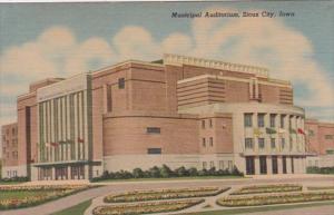 Iowa Sioux City Municipal Auditorium Curteich
