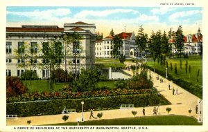 WA - Seattle. University of Washington, Campus Buildings & Grounds