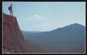 Woman On Top of Grafton Notch, TABLE ROCK, Maine, 40-60´s