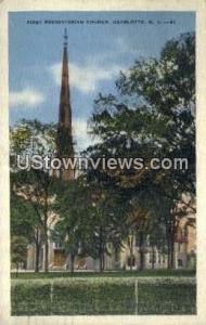 First Presbyterian Church Charlotte NC 1935