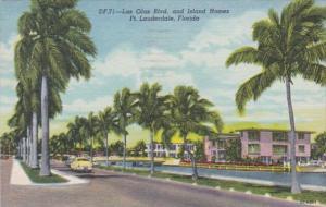 Florida Fort Lauderdale Las Olas Boulevard and Island Homes 1959 Curteich