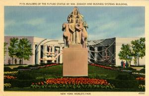 NY - New York World's Fair, 1939. Builders of the Future Statue; Business S...