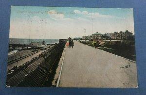 Vintage Postcard Promenade Looking West Clacton-On-Sea Essex Postmarked 1907 H1A