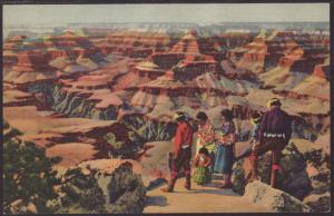 Hopi Indians,Grand Canyon Postcard