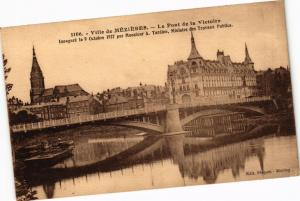 CPA   Ville de Méziéres- Le Pont de la Victoire -Inanguré le 9 Octobre..(224855)