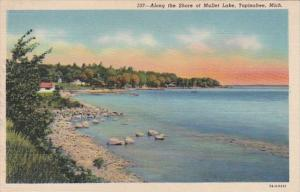 Michigan Topinabee Along The Shore Of Mullet Lake 1953 Curteich