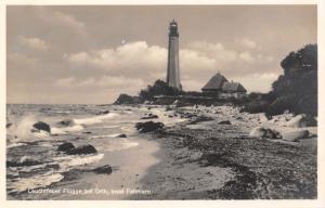 Fehmarn Germany~Lighthouse Flügge~Orth Island~c1920s Real Photo Postcard~RPPC