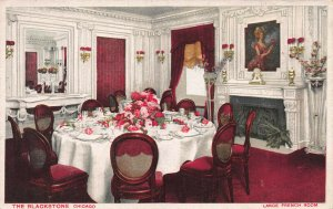 Large French Room, The Blackstone, Chicago, Illinois, Early Postcard, Unused