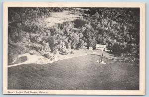 Postcard Canada Ontario Port Severn Airview Severn Lodge M03