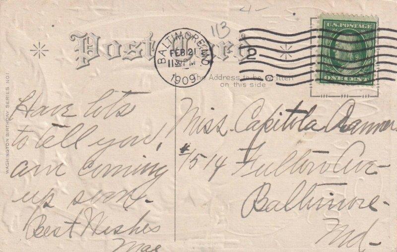 BIRTHDAY, PU-1909; In Memory of Washington, Portrait