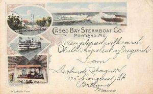 LP46  Ship  Casco Bay Steamboat Co Portland Maine Vintage Postcard