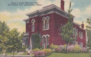 Indiana Indianapolis Home Of James Whitcomb Riley The Hoosier Poet