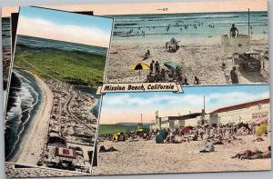 Mission Beach, California - split view