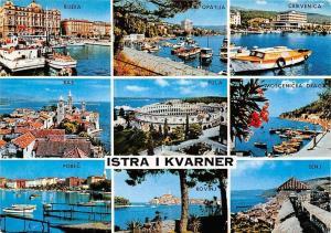 Croatia Istra i Kvarner, Rijeka Opatija, Pula, Rab, different views, colosseum