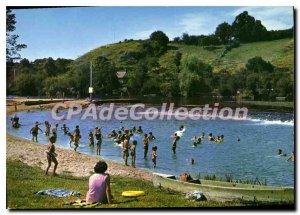Postcard Modern Fresnay sur Sarthe Sarthe yacht club Without Souci Beach