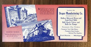 PORT HURON , MI  - Michigan - Draper Manufacturing Co Printed Card