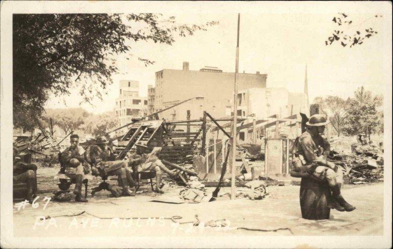 Social History Bonus Army BEF Camp Washington DC 1932 RPPC Pay WWI Vets #67