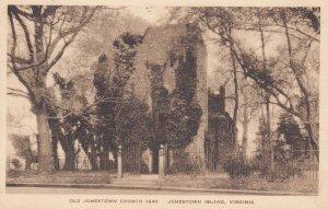 JAMESTOWN ISLAND, Virginia, PU-1930; Old Jamestown Church