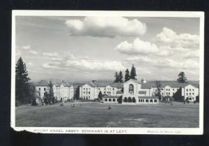 RPPC ST. BENEDICT OREGON MOUNT ANGEL ABBEY CATHOLIC SEMINARY PHOTO POSTCARD