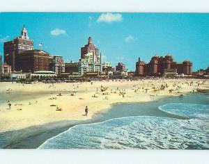 Unused Pre-1980 SCENE AT BEACH Atlantic City New Jersey NJ M7028