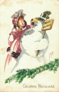 Happy New Year - Snowman and a Girl 04.33