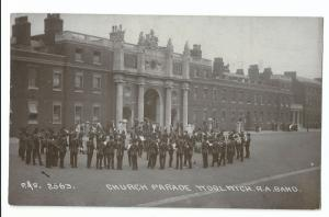 Church Parade, Woolwich RA Band, RP PPC, Local PMK To West, Orchardleigh, Epsom