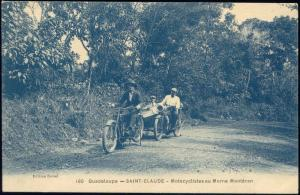 guadeloupe, SAINT CLAUDE, Motocyclistes au Morne Montéran, Motorcylcists Sidecar