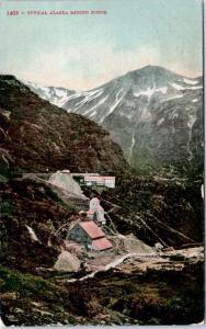 ALASKA, AK   Birdseye  TYPICAL ALASKA MINING SCENE  1910    Postcard