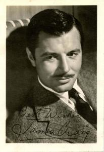 Autograph - James Craig, Actor. PRINTED-- NOT PERSONALLY SIGNED (Not a postcard)