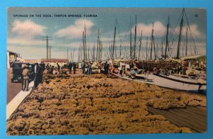 Vintage sponges and sponge boats, Tarpon Springs, FL (FL-116)