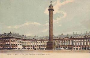 PARIS, La Place Vendome et la Colonne, France,  00-10s