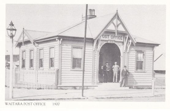Waitara New Zealand Taranaki Post Office in 1900 Postcard