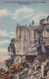 Lovers Leap From Observation Point In Rock City Gardens Lookout Mountain Tenn...