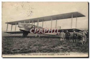 Old Postcard Jet Aviation Souge military camp A plane