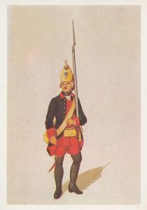 Russian Military Army Unidentified Uniform 1700s 3 Soviet Postcard