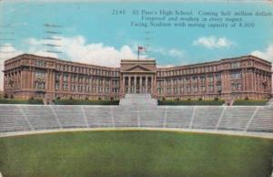 Texas El Paso High School and Stadium 1935 Curteich
