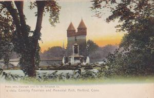 Corning Fountain and Memorial Arch, Hartford, Connecticut, 1900-1910s